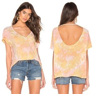 NWT Free People Top Tie Dye Shirt Short Sleeves